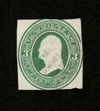 US 1870 #U82 - 3c Green Washington Reay Early Cut Square Used