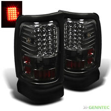 For Smoked 94-01 Dodge Ram LED Tail Lights Brake Lamp Pair Set New Taillights