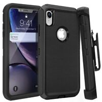 For Apple iPhone X XS MAX XR Shockproof Case w/ Belt Clip Fit Otterbox Defender