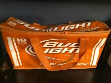 New listing Bud Light 18 Can Carry Cooler Pack Tote Lined Burnt Orange Texas Longhorns