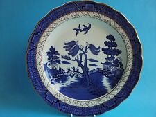 ROYAL DOULTON BOOTHS REAL OLD WILLOW PLATE BLUE AND WHITE
