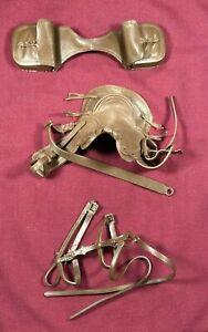 Horse Tack, Saddle and Saddle Bags Marx Johnny West Vintage