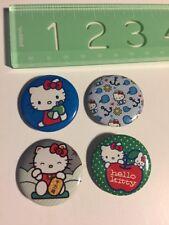 New Rare Sanrio Original Classic Hello Kitty Pin Set 4x Apple Punk Emo