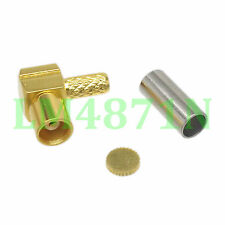 1pce Connector MCX female jack 90° crimp RG174 RG316 LMR100 cable right angle