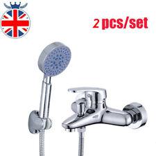 Modern Bathroom Taps Bath Filler Shower Mixer Faucet Kit with Shower Hand Held