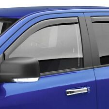 For Nissan Titan 17-19 Window Visors In-Channel SlimLine Matte Black Front /&