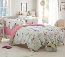 Butterfly Bed Pillowcase Quilt Cover Duvet Cover Set Single Double King Size