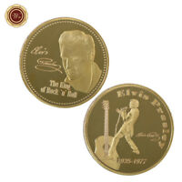 WR Elvis Presley - The King of Rock and Roll Gold Memorial Gold Coin Collectible