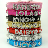 Bling Snakeskin Dog Cat Pet Personalized Rhinestone Collar - XS, S, M, L, XL