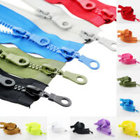 1pc 5# Zippers Resin Double Sliders Plastic Zippers For Clothes Coat Bag 70/80Cm