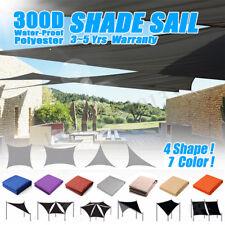 300D Sun Shade Sail Outdoor Garden Waterproof Canopy Patio Cover UV Block