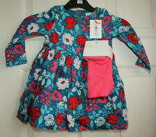 John Lewis Cord Floral Dress with Tights Age 9-12 Months - New with Tags