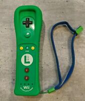 Nintendo Luigi Green MotionPlus OEM Wii U Remote Controller RVL-036 strap TESTED