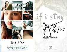 Gayle Forman~SIGNED & DATED~If I Stay~1st/1st (Thus) Movie Tie-in~HC + Photos!!