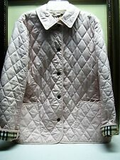 Authentic Burberry Quilted Jacket Size S Pink Color