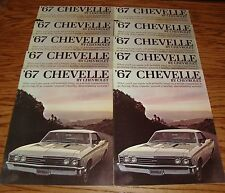 Original 1967 Chevrolet Chevelle Sales Brochure Lot of 10 67 Chevy