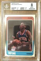 1988 Fleer Basketball Dennis Rodman ROOKIE RC #43 BGS 8 NM-MT