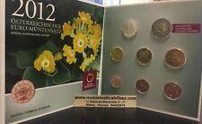 AUSTRIA CARTERA EUROS 2012 FDC FOLDER KMS SET 8 monete Österreich Autriche 3,88