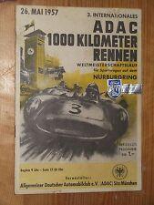 1957 programma 1000 km NURBURGRING WSCC Tony Brooks Aston Martin Siglinde COCA COLA