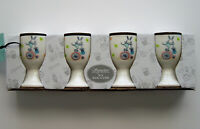 Signature Easter Egg Cups Porcelain Bunnies & Chicks on Bicycles set of four (4)