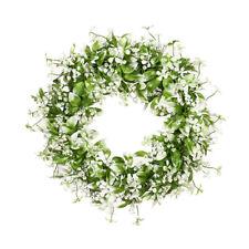 17.71'' Artificial Flowers Wreath White gypsophila garland Wedding Home Decor