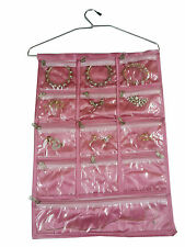 Jewellery Jewelry Organiser  Many zips bag hanging BIG Size many pouches Pink