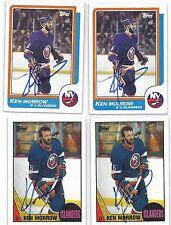 1987 Topps #66 Ken Morrow New York Islanders Autographed Signed Hockey Card