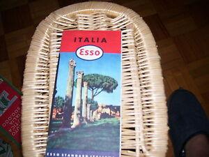 LIBRO CARTINA ITALIA ESSO STANDARD ITALIANA 2° EDIZIONE GIUGNO 1952