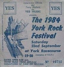 Sisters of Mercy ticket York festival 22/09/84 Echo & Bunnymen Chameleons Spear