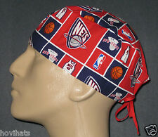 NEW JERSEY NETS MALE SCRUB HAT/ SURGICAL CAP NBA