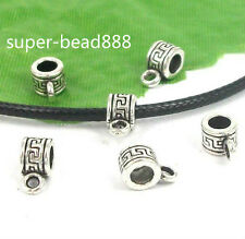Free Ship 80pcs Tibetan Silver Spacer Bai Beads Pendant Jewelry Making 10x5mm