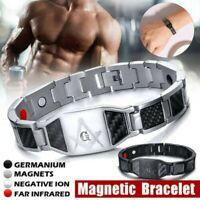 4 in1 Bracelet Magnétique Carbone Fibre Carpien Tunnel Arthrite Thérapie