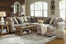 STERLING 4pcs Modern Gray Microfiber Living Room Sofa Couch Chaise Sectional Set