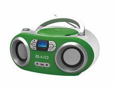 OUTMARK BAIO TRAGBARER CD-PLAYER CD-RADIO BLUETOOTH USB GRÜN WEISS KINDER