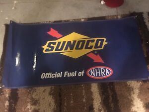 SUNOCO, NHRA RACE BANNER Official Fuel NHRA,NASCAR