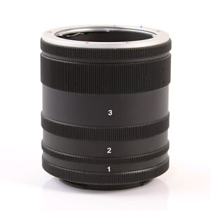Metal Macro Extension Tube 7-14-28mm Ring For Sony E Mount NEX3/5/7 A7R A7 A5000