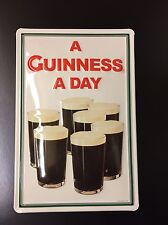 GUINNESS A DAY Vintage Metal Pub Sign 3D Embossed Steel Decor,Irish 20x30cm