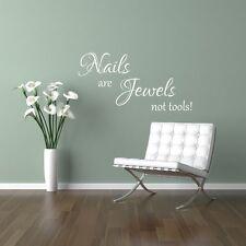 Nails are jewels not tools! Wall art sticker beauty salon girls bedroom home