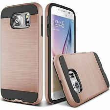 Samsung Galaxy S7 Slim Hybrid Brushed Case Cover +Screen Protector Ros