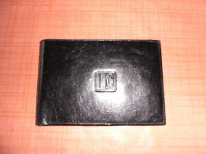 New Slim Black Faccino Cowhide Wallet