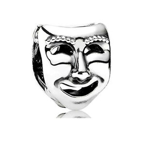 Authentic UK PANDORA Silver THE WORLD'S A STAGE Mask Charm~Bead 791177