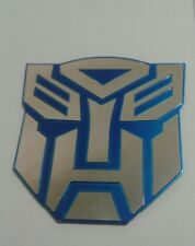 3D Blue Autobot Transformers auto logo car sticker  badge emblem tail decal