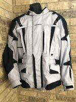 TOURMASTER Transition Series 2 Gray/Black Padded Motorcycle Jacket Men's XL 46