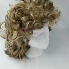 Vintage Womens Dynel Wig Frosted Blonde Brown Short Med Shag Costume Cosplay