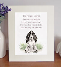 Cocker Spaniel BESTEST CHUM Novelty Dog Poem 8 x 10 Picture/10x8 Print Fun Gift