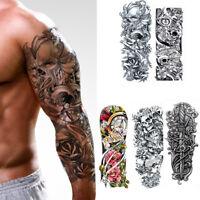 5pcs Large Temporary Body Art Arm Tattoo Sticker Sleeve Man Women Waterproof USA