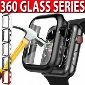 Case For Apple Watch Series 2/3/4/5/6/SE 360 FULL SCREEN PROTECTOR  Glass Cover