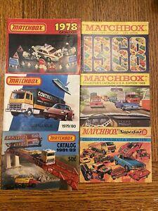 Lesney Matchbox Collectors Catalogue Lot Of 6  1968-1981