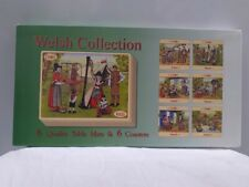 Welsh collection 6 quality table mats and 6 coasters