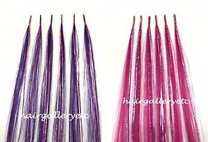 Hair Tinsel 100% Human Hair Extension i-tip + Silicone lined Micro Hair Beads